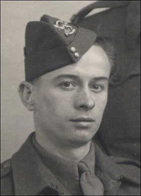 "Hero in the making young Private Horace Greasley. One soldier from WWII that can REALLY say, ""I'm a lover not a fighter."""