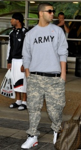 Wearing an Army sweatshirt when you have never served is like wearing a shirt for a college you have never attended.