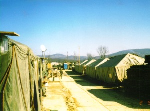 Camp Dobol Bosnia 1996. Not pretty, but it was home for a while.
