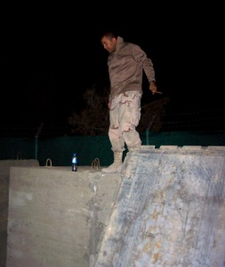 The perfect storm of events had a soldier up on a bunker in Afghanistan, in the middle of the night, drinking and smoking a cigar.