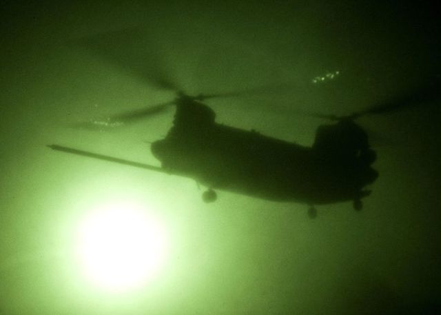 MH-47 Chinook Afghanistan night ops by Sgt. Daniel P. Shook