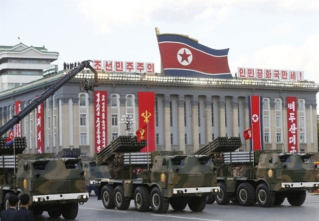North_Korea_Stages_Show_of_Force_with_New_Missiles_during_Parade photo Tasnim News Agency